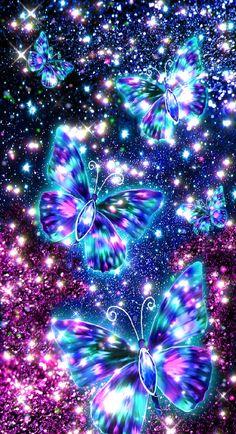 Fractal Art, Fractals, Wallpaper Backgrounds, Wallpapers, Butterfly Wallpaper, Cellphone Wallpaper, Blue Butterfly, Butterflies, Cute