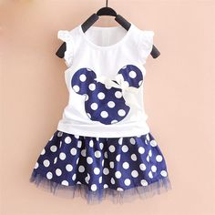 2016 new t shirt +Skirt baby kids suits 2 pcs fashion girls clothing sets minnie children clothes bow tops suit Dresses - FASHION BookFace - Leading Global Online Shopping Site Princess Dress Kids, Princess Outfits, Girl Outfits, Princess Clothes, Princess Birthday, Tutu Outfits, Princess Style, Princess Party, Fashion Outfits