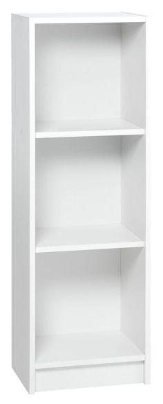 Boekenkast HORSENS 3 schappen smal wit   JYSK In kledingkast?