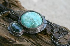 Tibetan turquoise, oval sape, Silver  Handmade Cabochon 16 Gauges ,Oval Jade stone,From Guatemala  Necklace - pinned by pin4etsy.com