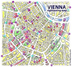 A Detailed Map of Vienna with all Major Sightseeing Attractions 19th district