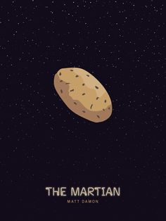 The Martian (2015) ~ Minimal Movie Poster by JimDesigns ~ Oscars 2016 Nominees #amusementphile