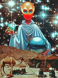 [ The Messenger Of Light. Surreal Mixed Media Collage Art By Ayham Jabr ]