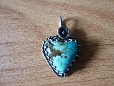 Vintage Native American Small Heart Shaped Turquoise by BathoryZ