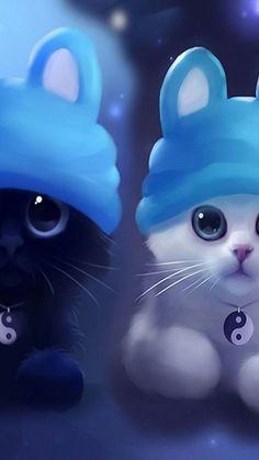 70 Ideas For Anime Art Cute Baby Animals Cute Cat Wallpaper, Cute Disney Wallpaper, Cute Wallpaper Backgrounds, Animal Wallpaper, Cute Cartoon Wallpapers, Baby Wallpaper, Cute Animal Drawings, Cute Drawings, Kawaii Drawings