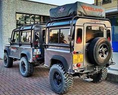 Land Rover Defender 90 and trailer Defender Overland in Africa Off Road Trailer, Car Trailer, Camper Trailers, Expedition Trailer, Expedition Vehicle, Tenda Jeep, Land Rovers, Carros Off Road, Iveco 4x4