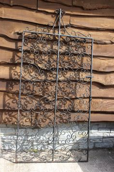 Scrolled Wrought Iron Tall Single Gate