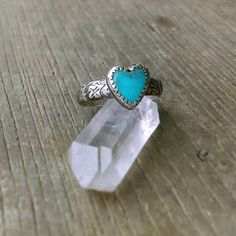 8mm Kingman Turquoise Ring, Silver Band, Sterling Silver Ring, Floral Ring Band, Oxidized, Country Chic, Rustic Boho Jewelry, Oxidized by EarthSpiritSilver on Etsy