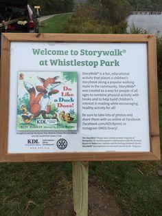 Storywalk Kent District Library- Byron Center Whistlestop Park