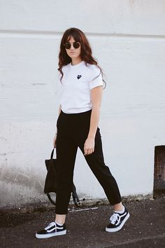 Get this look: http://lb.nu/look/8489857  More looks by Tonya S.: http://lb.nu/themoptop  Items in this look:  Need Supply  Comme Des Garcons Play Tee, Old Skool Vans   #casual #minimal #street #basics #minimalstyle #portlandblogger #portland #uoonyou #uoaroundyou
