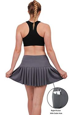 db0f22113b4 Womens Tennis Pleated Skorts Golf Workout High Waist Biult in Skirts Sports  Active Wear with Pockets