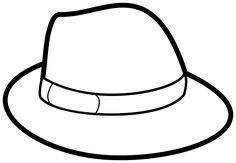 Coloring Pages For Boys, Free Printable Coloring Pages, Coloring Sheets, Free Coloring, Pictures Of Hats, Hat Template, Hat Crafts, Sewing Crafts, Kids Pages