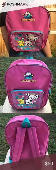 Sanrio vintage Spottie Dottie PVC pink backpack 💕 This backpack is so  cute! Retired Sanrio b9317e087cdd0