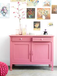 pretty pink dresser for closet extra stuff Furniture Inspiration, Interior Inspiration, Furniture Makeover, Diy Furniture, Antique Furniture, Pink Cabinets, Cupboards, Deco Pastel, Pink Dresser