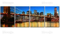 """Il quadro """"New York Ponte di Brooklyn"""": una soluzione interessante per creare un surrogato dell atmosfera di una grande metropoli tra le nostre mura."""