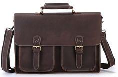 0f4857855a Image of Men s Vintage Genuine Leather Laptop Bag Messenger Briefcase  Shoulder Handbag A06 Laptop Tote Bag