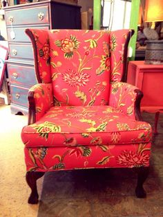 Two Women and a Warehouse Wingback Chair, Warehouse, Accent Chairs, Living Room, Furniture, Home Decor, Upholstered Chairs, Decoration Home, Room Decor