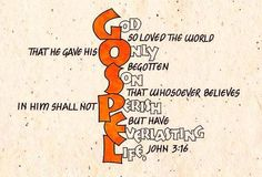 Never realized it lined up this way. John 3:16