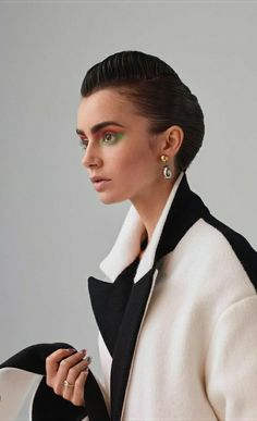Pearl Earrings, Drop Earrings, Lily Collins, Beautiful Actresses, Trending Memes, Fashion Beauty, Photoshoot, Poses, Flower