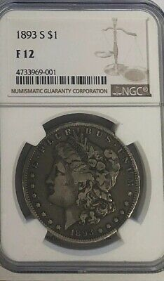 1893 S Ngc F12 Silver Morgan Dollar 1 The Mother Of