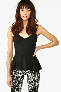 Boa Peplum Top