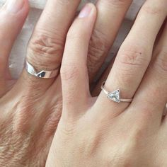 Matching promise rings, his and her promise rings, promise rings . Matching promise rings, his and her promise rings, promise rings … Sourc Matching Promise Rings, Wedding Rings Sets His And Hers, Promise Rings For Couples, Matching Wedding Rings, Silver Wedding Rings, Diamond Wedding Rings, Bridal Rings, Silver Rings, Matching Rings