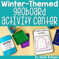 This Winter Geoboard Center is perfect for PreK, Kindergarten, 1st grade or homeschool classrooms. This pack includes two winter-themed geoboard pattern books that are perfect for morning tubs or centers. Both books include the same pattern just with different degrees of difficulty. There is also a corresponding activity page for your preschoolers, Kinders or first graders to create their own pattern & write to tell about it. Great for early or fast finishers. {English Language Arts, Math, ELA}