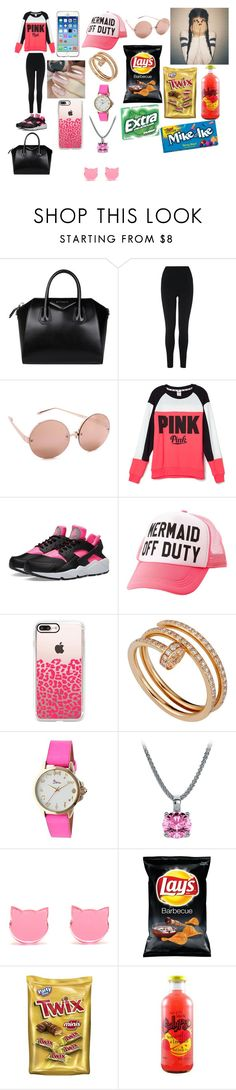 """""""Sierra"""" by buttercup1827 ❤ liked on Polyvore featuring Givenchy, L.K.Bennett, Linda Farrow, Victoria's Secret, NIKE, Charlotte Russe, Casetify, Urban Outfitters, Cartier and Boum"""