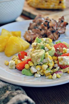 Hello Paper Moon: Operation Use That Herb Garden: Avocado and Grilled Corn Salad with a Cilantro Vinaigrette