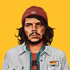 world leaders as hipsters by amit shimoni Mode Hipster, Estilo Hipster, Hipster Fashion, 80s Fashion, Hipster Tattoo, Che Guevara, Hipsters, Bonnet Adidas, Psychedelic Art