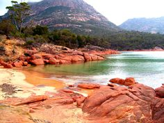 Honeymoon Bay in Tasmania. Totally secluded and stunning. Worth another trip, perhaps on my....honeymoon?? hahaha