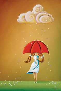Choose your favorite red umbrella paintings from millions of available designs. All red umbrella paintings ship within 48 hours and include a money-back guarantee. Illustrations, Illustration Art, Canvas Art, Canvas Prints, Art Prints, Framed Prints, Art Fantaisiste, Art Mignon, I Love Rain