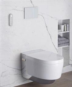 Het kleinste kamertje, het grootste belang. Kies wijs! Zwevend toilet • marmer • wc • Foto: www.facq.be