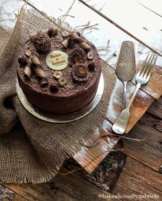 Food of the Gods Cake - Layers of sponge, nutella and ferrero rocher.