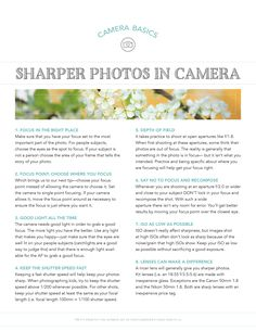 Sharper Photos: Good Light and Good Lenses. Free Cheat Sheet. Pretty Presets for Lightroom.