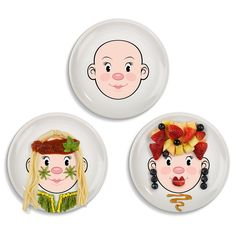 These Ms. Food Face plates make mealtime more fun and let the creative juices -- and probably some food juices -- flow. (There's a Mr. Food Face too).