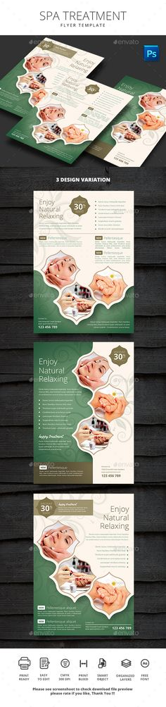 Spa Treatment Flyer Design Template - Commerce Flyers Design Template PSD. Download here: https://graphicriver.net/item/spa-treatment/19437515?ref=yinkira