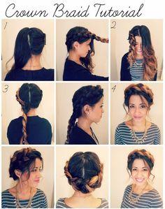 Crown Braid Tutorial via #bblog #suggestionssalon.blogspot.com #hairstyle #hairdo
