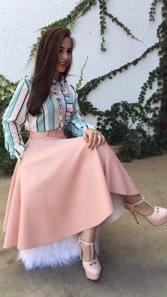 Swans Style is the top online fashion store for women. Shop sexy club dresses, jeans, shoes, bodysuits, skirts and more. Modest Outfits, Skirt Outfits, Modest Fashion, Hijab Fashion, Dress Skirt, Casual Outfits, Fashion Dresses, Cute Outfits, Pleated Skirt