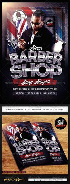 Barbershop Flyer Templates Flyer template, Barbershop and Template - hair salon flyer template