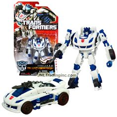 Hasbro Year 2011 Transformers Generations Fall of Cybertron Series Deluxe Class 6 Inch Tall Robot Action Figure - Autobot JAZZ with Blaster Pistol (Vehicle Mode: Cybtertronian Racer)