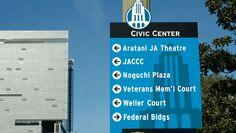 Downtown Los Angeles Civic Center Wayfinding   Hunt Design with Corbin Design