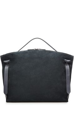JIL SANDER Suede And Leather Tote. #jilsander #bags #hand bags #silk #suede #tote #lining #
