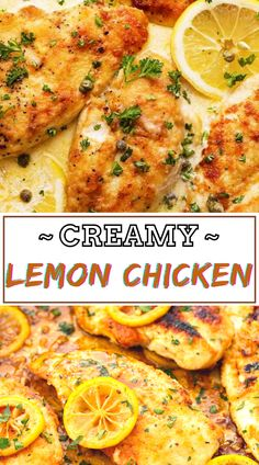 Cream and lemon may be a luscious combination and is stellar served over crispy chicken! Don't Lose this Yummy Recipe by saving It 😍📥 #chicken #chicken_recipes #chicken_dinner #chicken_lemon #lemon_chicken #creamy_lemon_chicken #creamy_chicken Easy Chicken Dinner Recipes, Healthy Dinner Recipes, Easy Meals, Unique Recipes, Easy Recipes, Creamy Lemon Chicken, Crispy Chicken, Savoury Dishes, Different Recipes