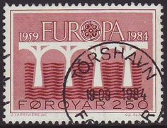 Faroes 1984 SG 94 Used Europa/CEPT Listing in the Denmark & Faroe Islands,Europe,Stamps Category on eBid United Kingdom Faroe Islands, Stamp Collecting, Postage Stamps, Denmark, United Kingdom, Europe, The Unit, Activities