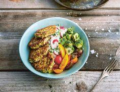 Kräuter-Avocado-Bowl mit Pilz-Talern Rezept