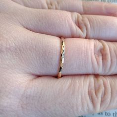 Gold-filled Single Stacking Ring, Hammered Texture Ring Band, Dainty Stackable Boho Style Minimalist Ring, Simple Minimal Modern Ring by SilverlingStudio on Etsy Lace Jewelry, Jewelry Accessories, Wave Ring, Nautical Jewelry, Twist Ring, 14 Karat Gold, Stacking Rings, Business Products, Gold Rings