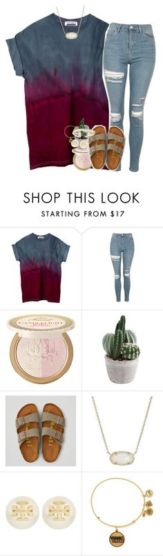 """jk not over it."" by ellaswiftie13 ❤ liked on Polyvore featuring Topshop, Power of Makeup, American Eagle Outfitters, Kendra Scott, Tory Burch and Alex and Ani"