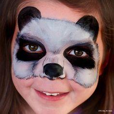 Otras ideas del maquillaje de oso panda para Carnaval 2016: máscara
