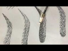 MICROBLADING - TREINO DE FIOS #2 - FIOS FUSION - YouTube
